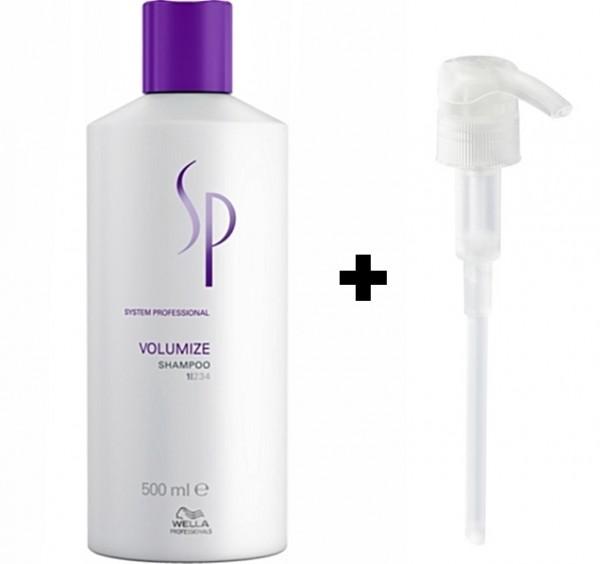 Wella SP System Professional Volumize Shampoo 500ml + gratis Pumpe