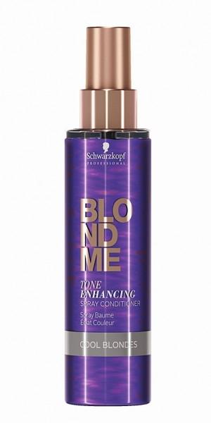 Schwarzkopf Blondme Tone Enhancing Spray Conditioner Cool Ice 150ml