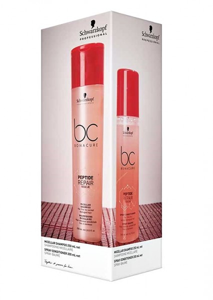 Schwarzkopf BC Peptide Repair Rescue Duo 2020 - Shampoo 250ml+Spray Conditioner 200ml